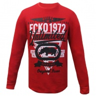 Ecko Unltd. - T-Shirt Long Sleeves Red Ecko Unltd For Men