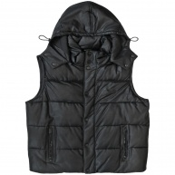 PPB. - SJ1425 - BLK - Hooded Heavy Weight Vest