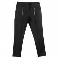 Runners. - 29501 -BLK- Knit Pant WFront Zipper Detail