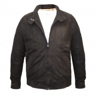 Black suede jacket for men