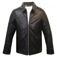 Black leather jacket for men