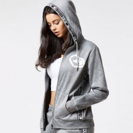 Grey hood zip Ecko Red for women
