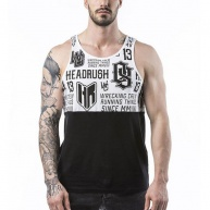 White tank-top Headrush for men