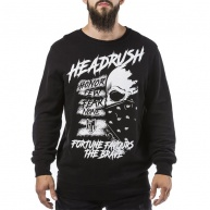 Black crewneck Headrush for men
