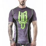 Black/Lime t-shirt Headrush for men