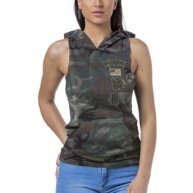 camo hood headrush for women (front)