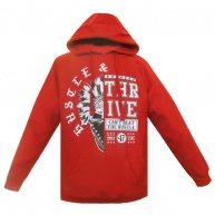 Red hoodie Hustle & Thrive for men