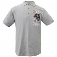 Grey polo Hustle & Thrive for men