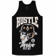 Black tank top Hustle & Thrive for men