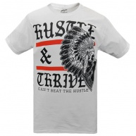 White t-shirt Hustle & Thrive for men