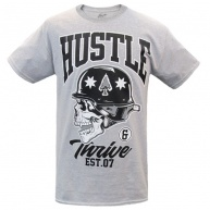 Grey t-shirt Hustle & Thrive for men