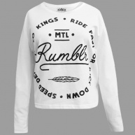 White t-shirt long sleeve Rumblr for women