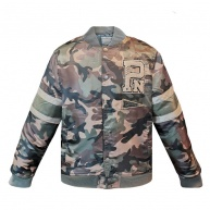 Camo bomber jacket for men