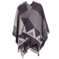 Grey poncho for women