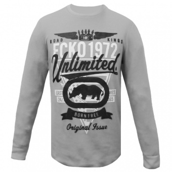 Ecko Unltd. - T-Shirt Long Sleeves Grey Ecko Unltd For Men
