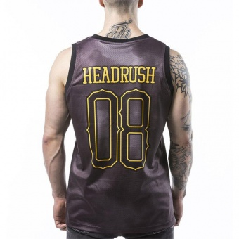 Black tank-top Headrush for men