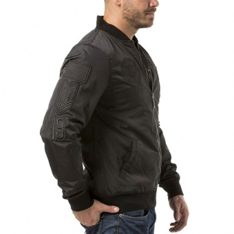 Black jacket Headrush for men side
