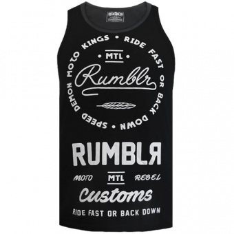 Black tank top Rumbler for men