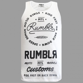 White tank top Rumblr for men